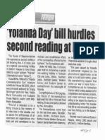 Tempo, Oct. 14, 2019, Yolanda Day bill hurdles second reading at House.pdf