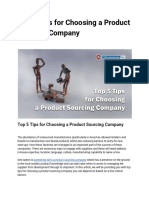 Top 5 Tips for Choosing a Product Sourcing Company