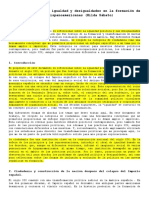 Ciudadanía Política, Igualdad y Desigualdades en La Formación de Las Repúblicas Hispanoamericanas (Hilda Sabato)