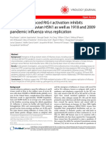 5'PPP-RNA Induced RIG-I Activation Inhibits