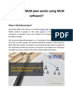 How Board MLM Plan Works Using MLM Software