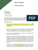 Appoinment Letter p