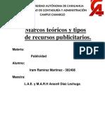Marcos Teoricos y Tipos de Recursos Publicitarios