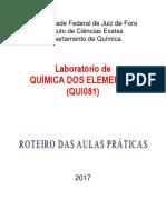 Laboratório de Química Dos Elementos Qui081 2017 Introdução e Grupo 1