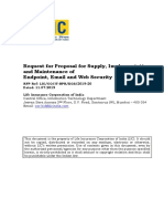 RFP for Endpoint Email and Web Security