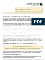 Outdoor Kundenbindung Kunden Incentive
