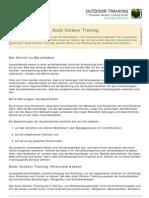 Outdoor Training für Auszubildende