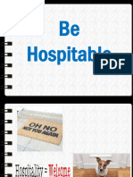 Be Hospitable Assembly