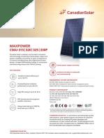 Canadian Solar Datasheet MaxPower CS6U P v5.53en