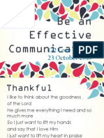 Be an Effective Communicator Assembly