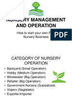 Nursery Management and Operation
