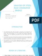 Analysis of Steel Pedestrian Crossover Bridge