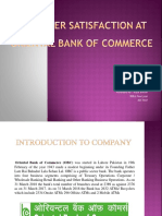 Rajat 2customer Satisfaction at Oriental Bank of Commerce Ppt
