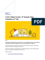 Cold Calling Scripts 25 Sample Sales Templates & Tips