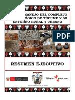 RUTA MOHCE Resumen Ejecutivo Plan Manejo Tucume