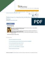 Mezcla Optima Con Solver Office