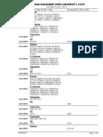 Tentative Timetable - Dec 2019 Exam