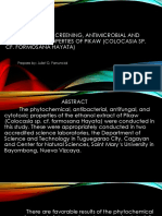 Phytochemical Screening, Antimicrobial and Cytotoxicity Properties Of