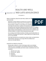Mental Health and Well Being of Mid Late Adolescence2