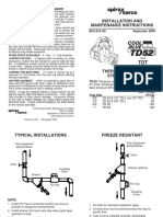 Thermo-Dynamic Steam Trap TD52-Installation Maintenance Manual