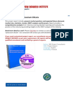 Project Report on Potassium Silicate