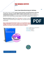 Project Report On Silicone Foam Manufacturing For Railway
