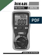 Manual Terrometro Htr 770