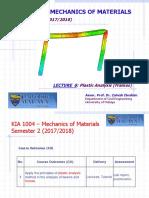 KIA 1004 LECTURE 6 Plastic Analysis (Portal Frames) Sem2 2017_18