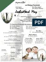 May Trixcy Wedding Invitation