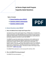 Medical Device Single Audit Program - Frequently Asked Questions