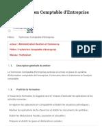 ITA Technicien Comptable d'Entreprise Supmaroc _ Supmaroc