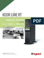 Legrand Keor Line RT Brochure