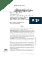 Salud Mental, Género, Educación Social en Centro