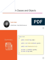 Working With Classes and Objects Slides