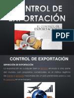 Control de Exportacion