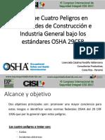 Enfoque Cuatro Peligros en Actividades de Contrucción e Industria General Bajo Los Estandares Osha 29 Cfr (1)