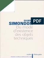 Gilbert Simondon , du monde d'existence des objets techniques