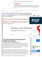 TOP CIVIL ENGINEERING Interview Questions and Answers 2019