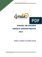 SIAF Manual Módulo Administrativo- Corregido