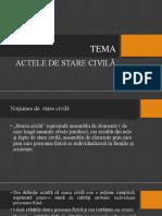 Actele de Sstare Civilă