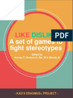 Like-Dislike a set of games to fight stereotypes