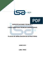 PE AM13 GP026 Caracteristicas Especificaciones Placas Señalizacion