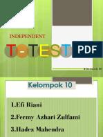 Kelompok 10 Independent T-Test