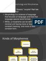 PPT 1 - Morphology and Its Types