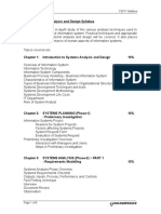 Systems Analysis and Design Syllabus