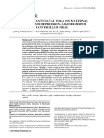 Effects of Antenatal Yoga