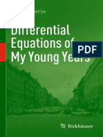 Vladimir Maz'Ya (Auth.) - Differential Equations of My Young Years-Birkhäuser Basel (2014)