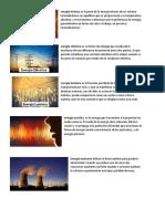 Tipos de Energia y Tipos de Materia