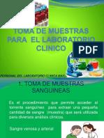 TOMA DE MUESTRAS PARA  EL LABORATORIO CLINICO.pptx