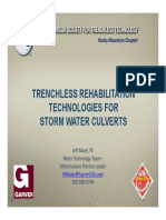 TRENCHLESS REHABILITATION TECHNOLOGIES FOR STORM WATER CULVERTS